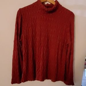 Coldwater Creek Red Long Sleeve Blouse - L